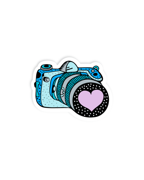 Stickers beavory camera vinyl. Vintage sticker png banner freeuse download