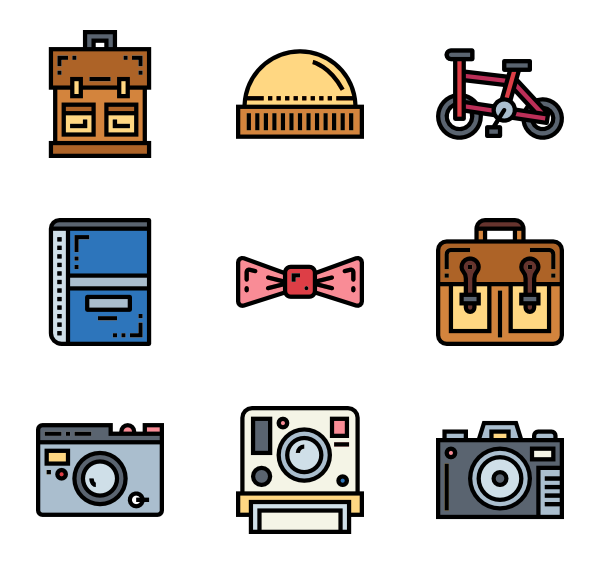 Modern vector simple. Vintage icons free hipster