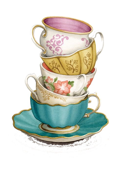 stacked tea cups png