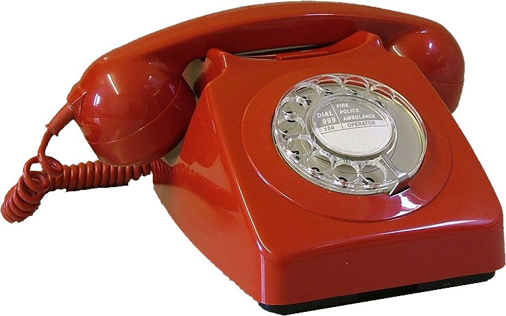 Vintage telephone png. Red phone psd official
