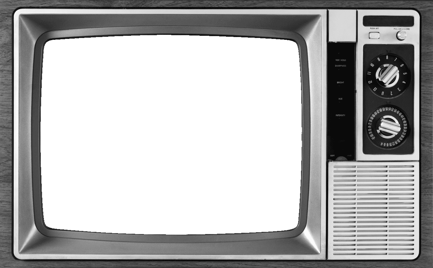 Vintage television png. United states show business
