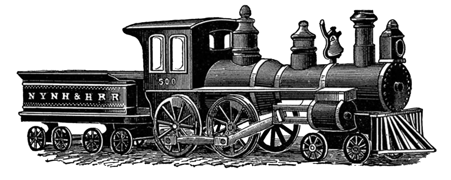 Vintage train png. Drawing transparent stickpng
