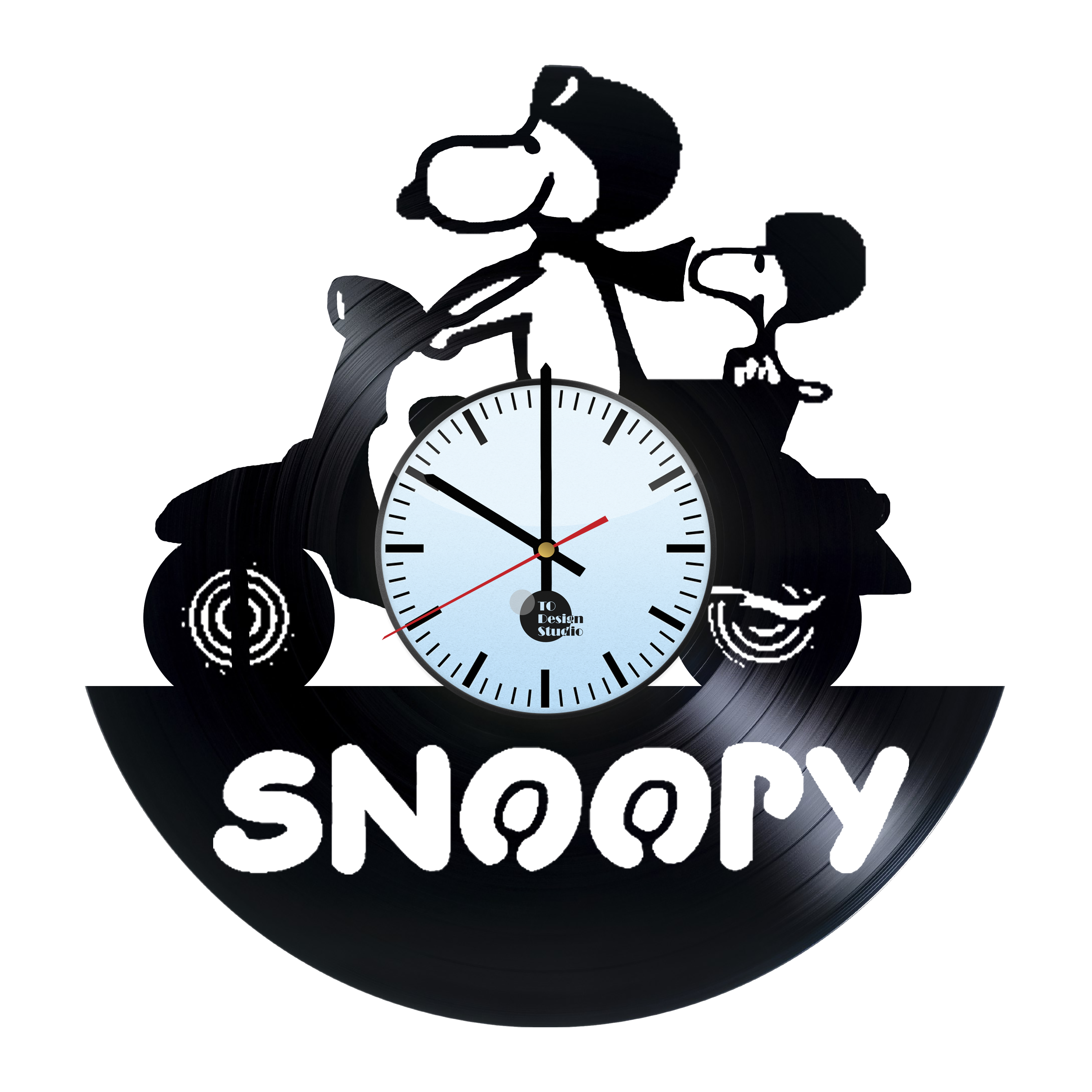 Vinyl clock designs png transparent. Snoopy and charlie brown
