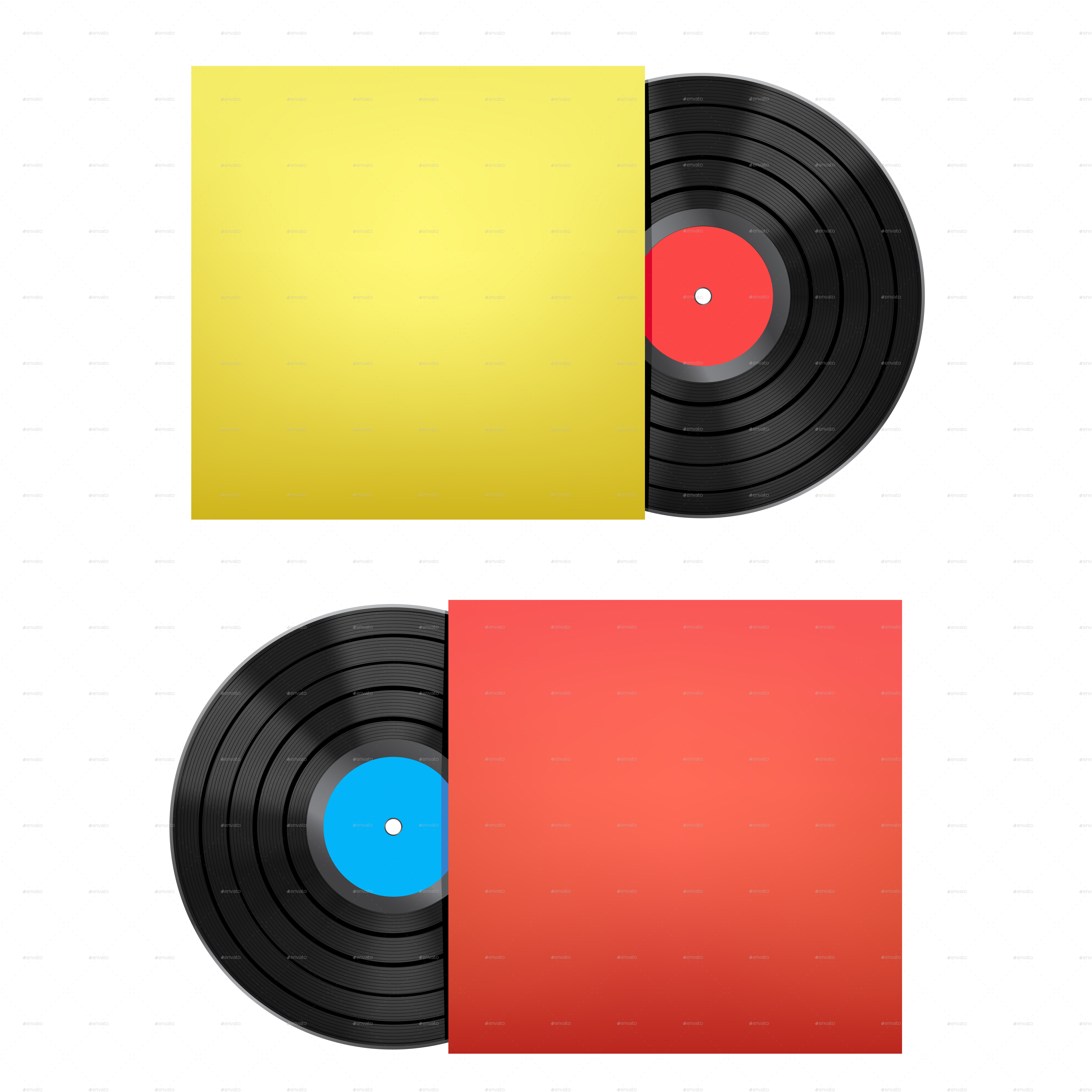 Vinyl cover png. Disc and by romvo