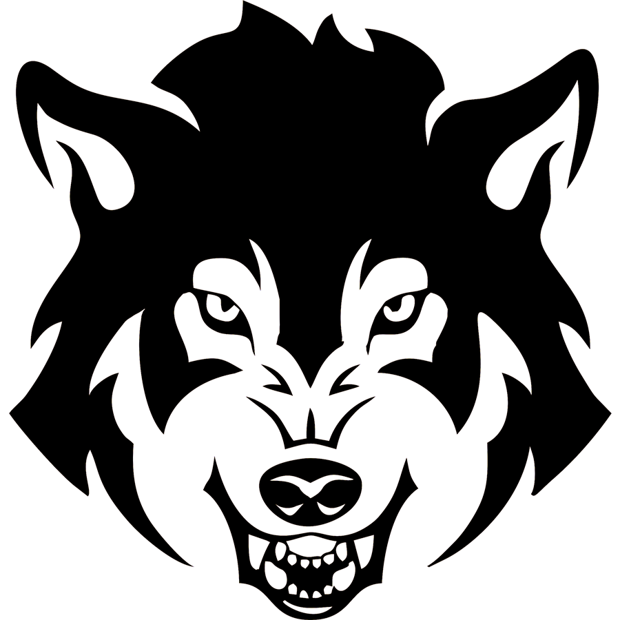 Vinyl decal png. Wolf dog scary face