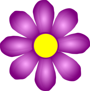 Flower clip art at. Violet clipart graphic free