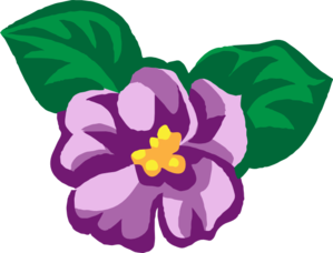 Violet clipart. African clip art at