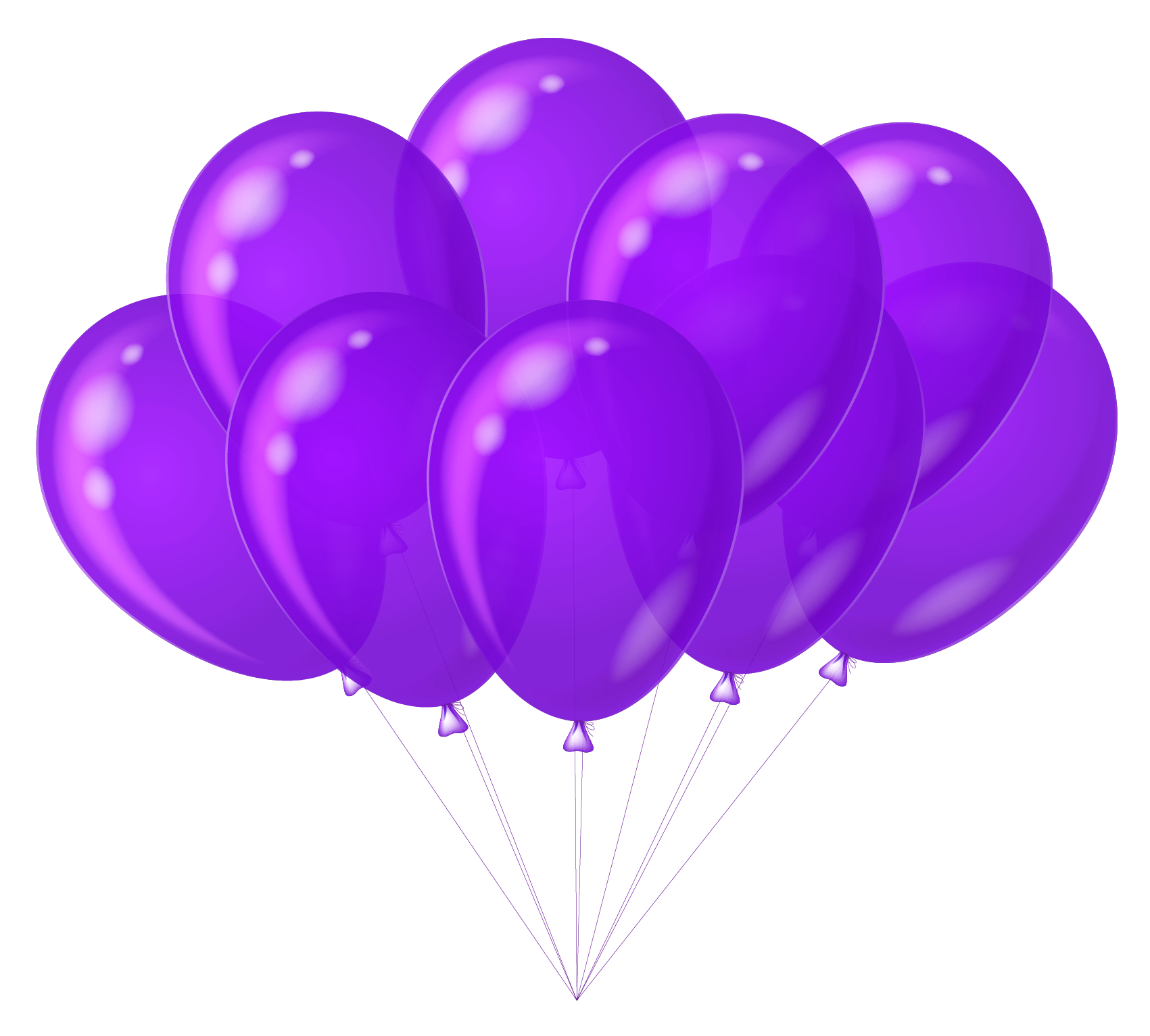 Purple balloons png. Transparent clipart gallery yopriceville