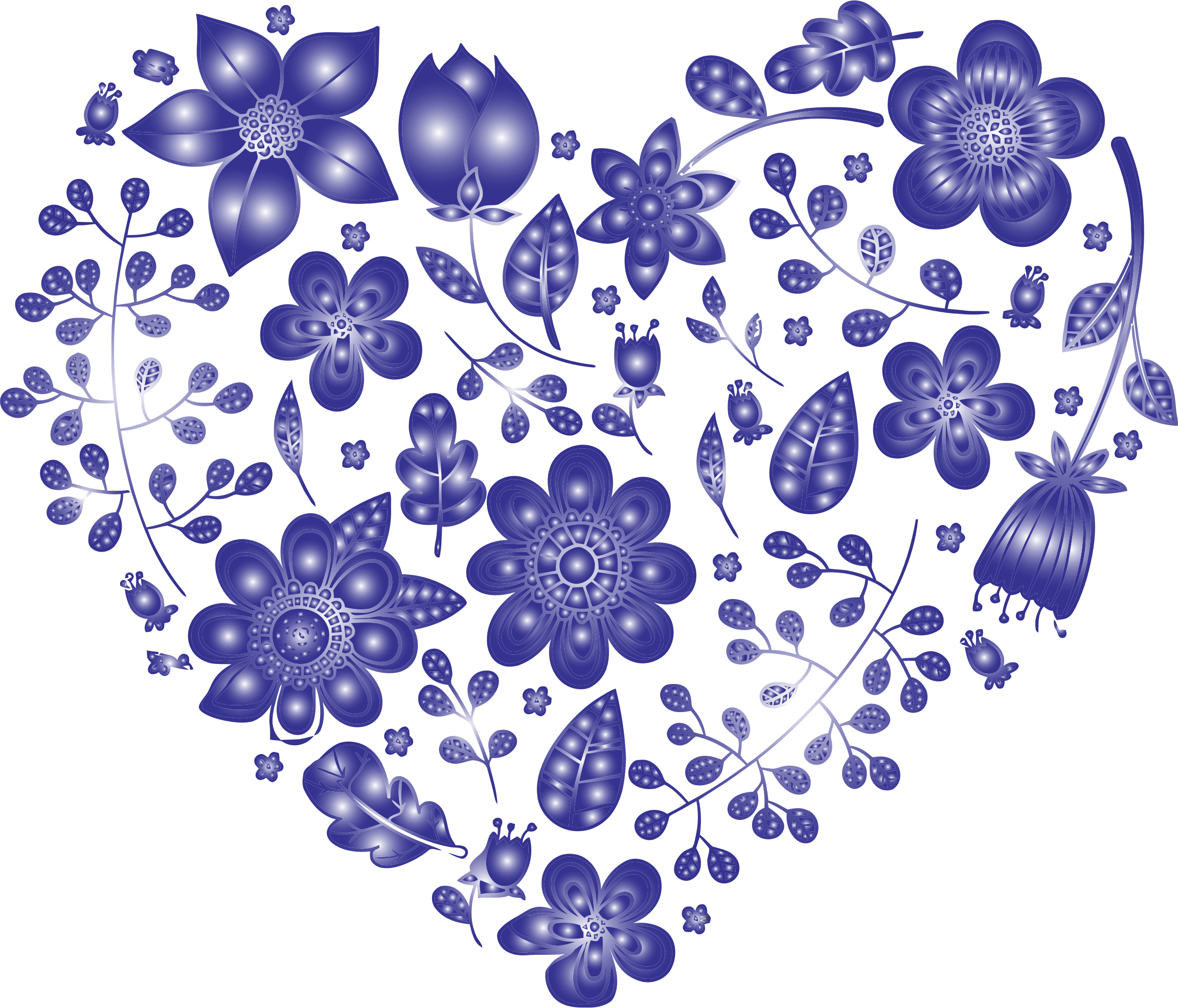 Floral heart png