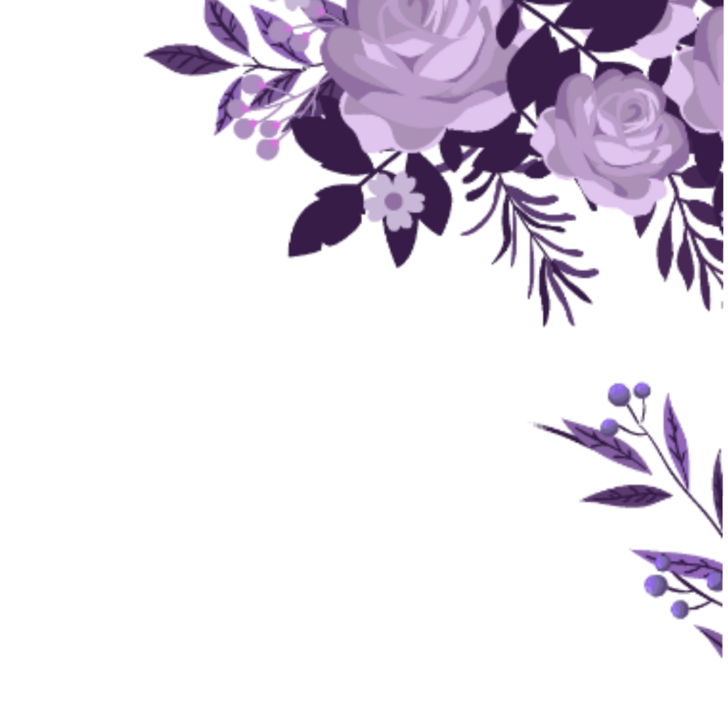 Corner transparent watercolor floral. Ftestickers flowers border purple