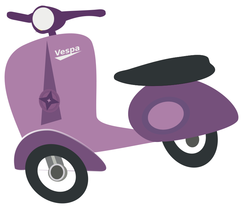 Purple moped