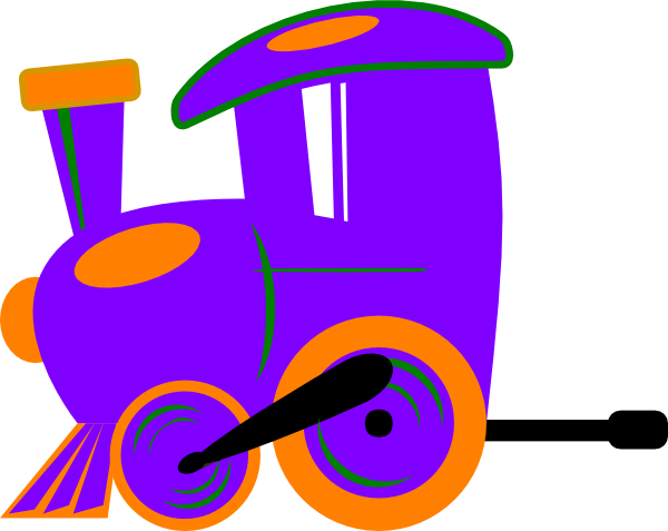 Violet road train. Toot and carriage svg
