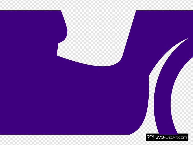 Violet scooter. Purple clip art icon