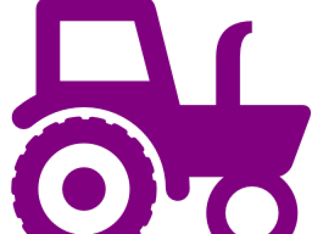 Violet tractor. Clipart purple x free