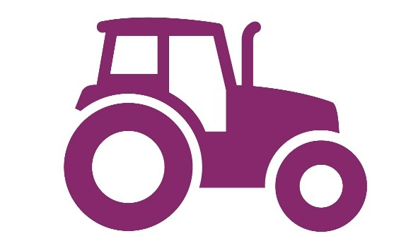 Violet tractor. Are your employees safe