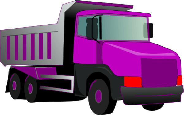 Violet truck. Purple cliparts zone