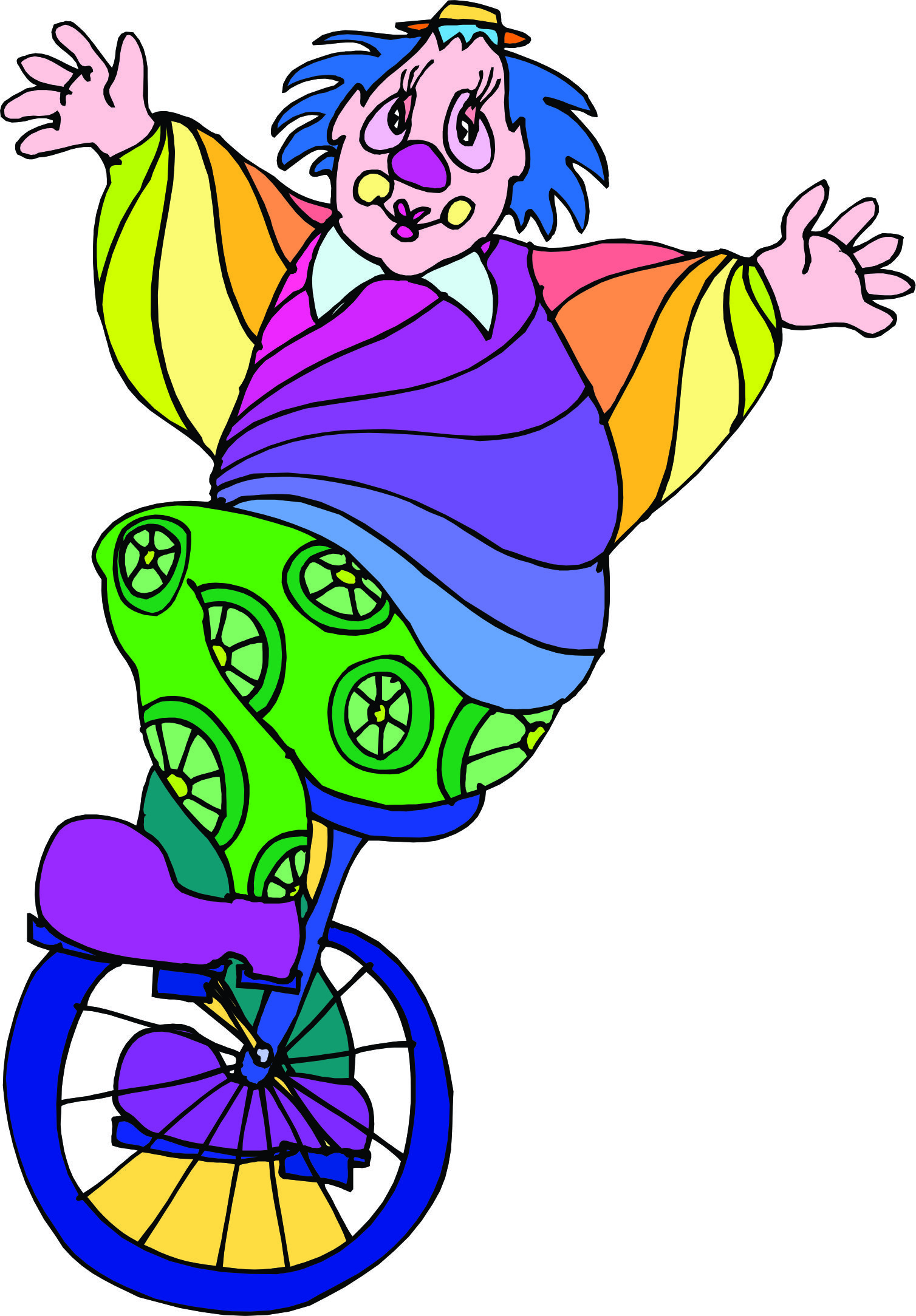 Violet unicycle. Free cliparts download clip