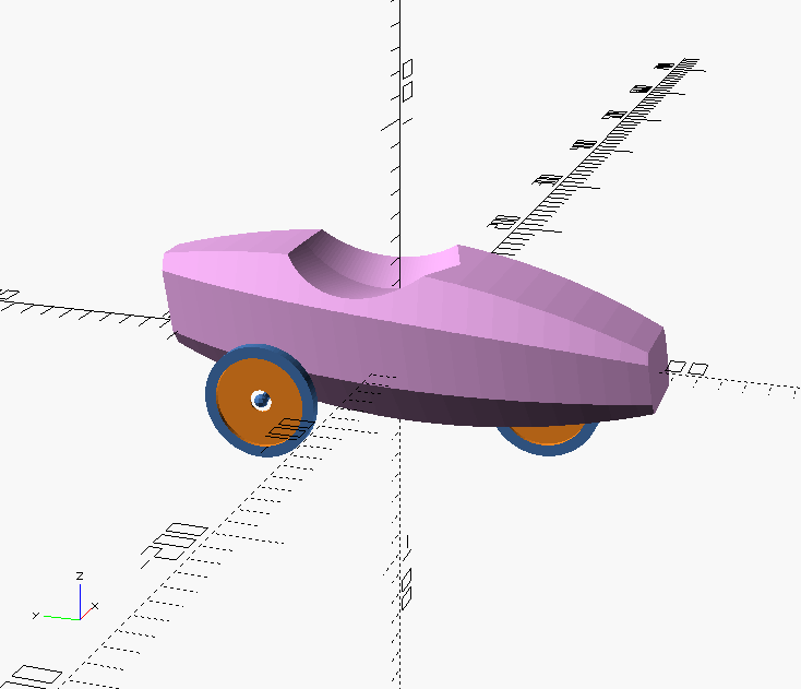 Violet velomobile. Skin on frame body