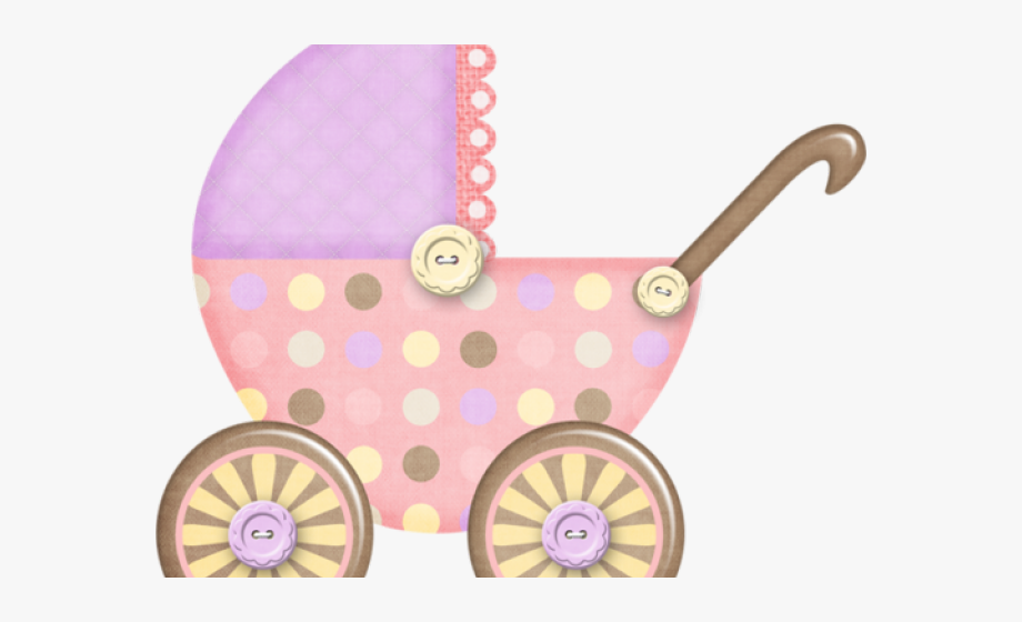 Violet wagon. Purple clipart baby carriage