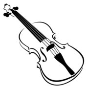 Free and vector graphics. Violin clipart image royalty free stock