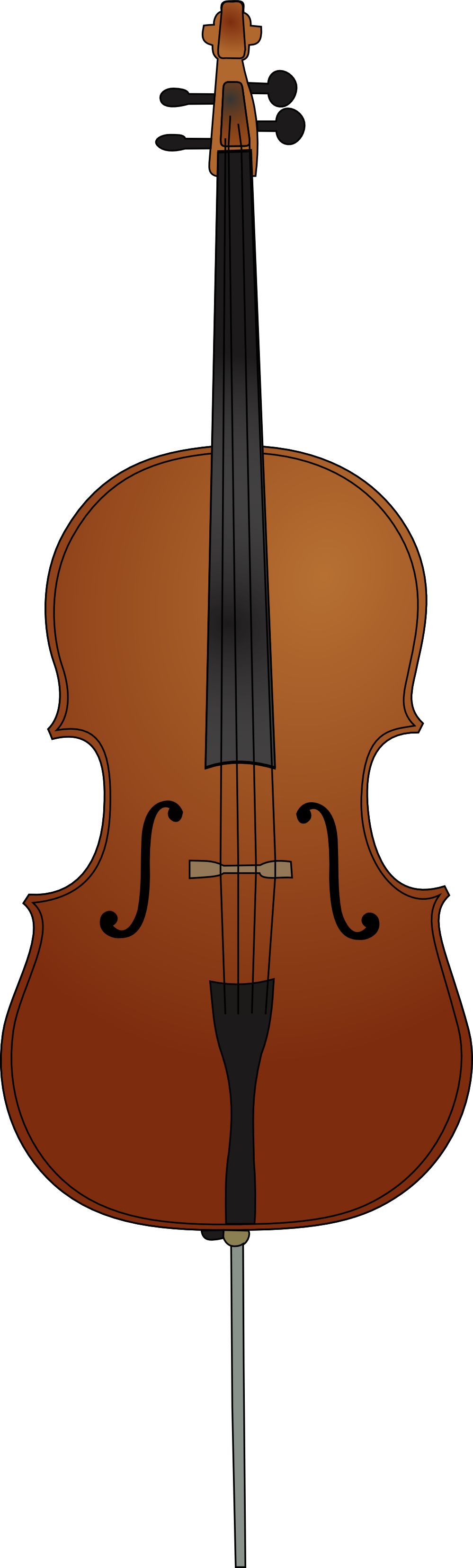 Cello vector silhouette. Free cliparts download clip
