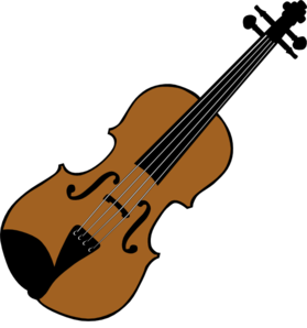 Fiddle drawing art. Violin silhouette clip at