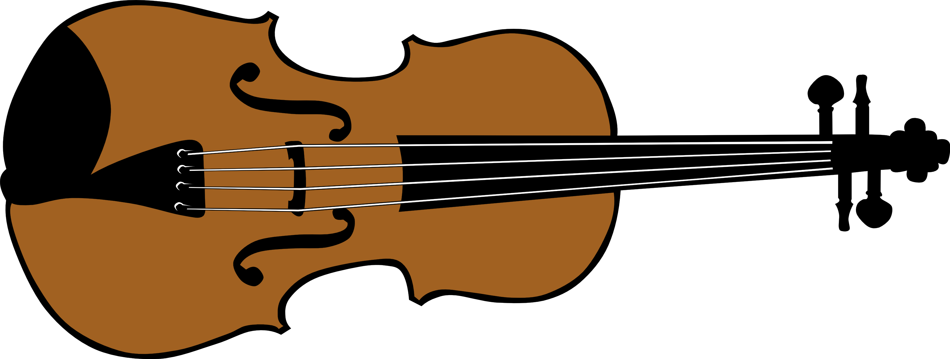 Drawing guitar violin. Clipart black and white