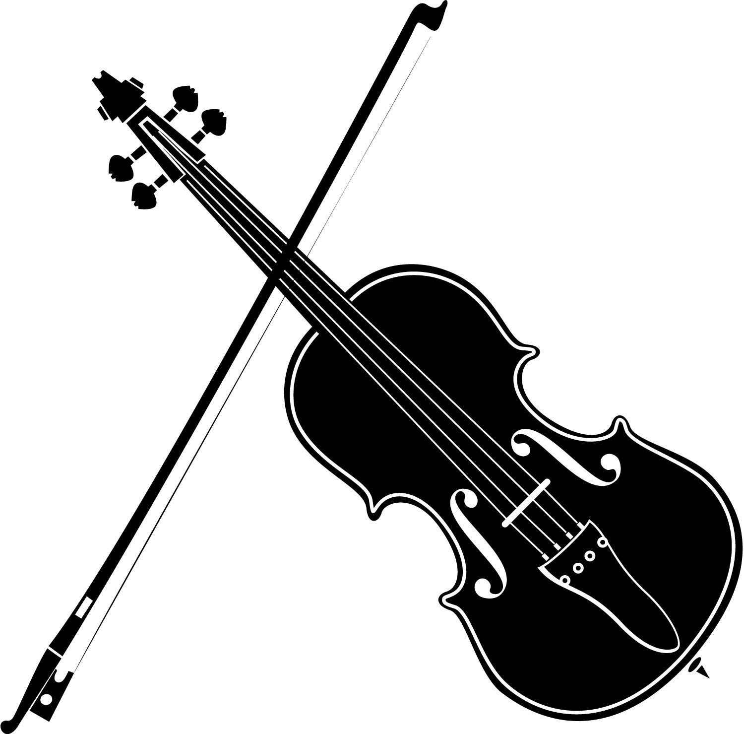 Violin clipart. Playing black and white