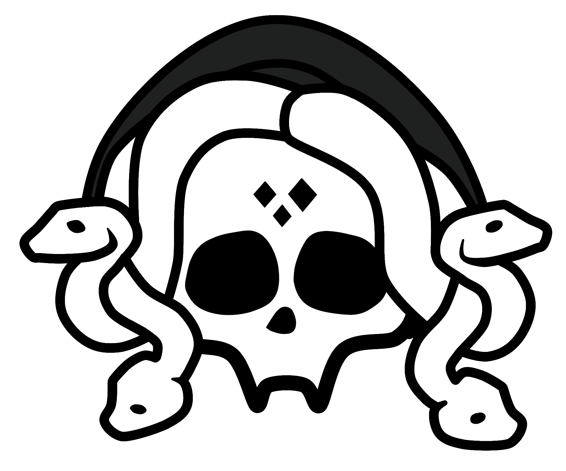 Viper logo fangs black and white png. Serpentine monster high fandom