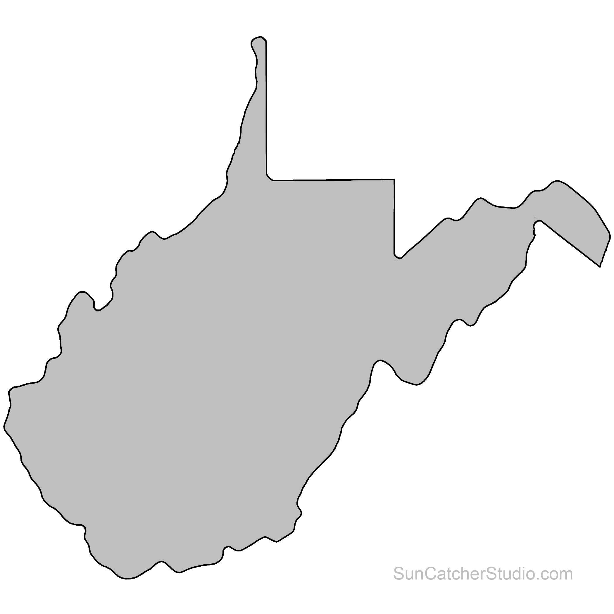 Outline Map Of Virginia.Virginia Outline Transparent Png Clipart Free Download Ya Webdesign