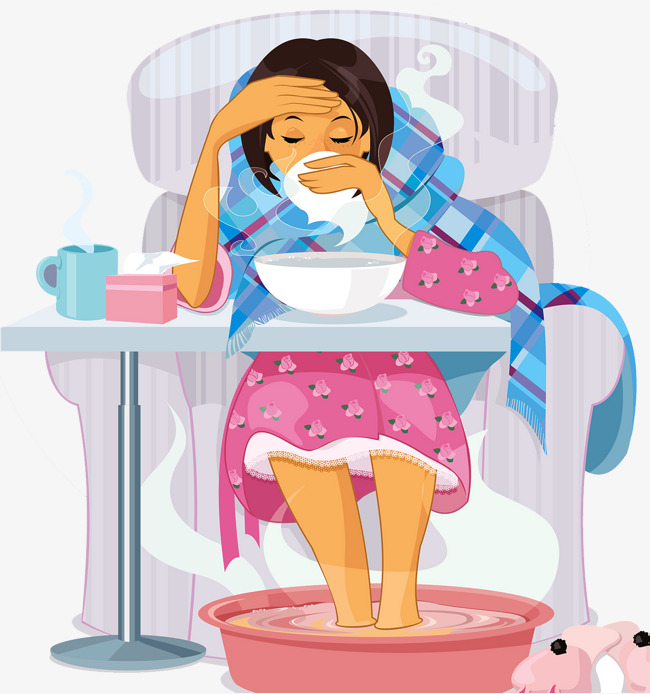 Virus clipart infected person. Influenza infection weak recuperate