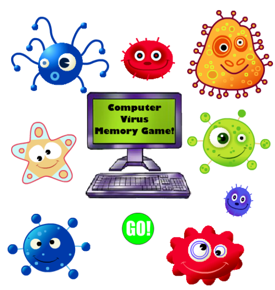 Virus clipart svg. Computer memory game clip