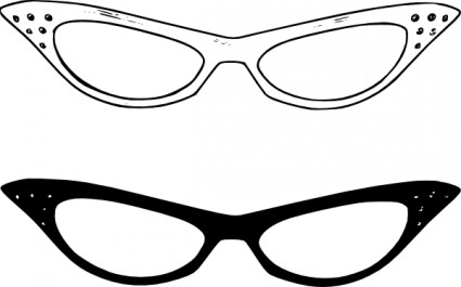 Vision clipart round glass. Glasses panda free images