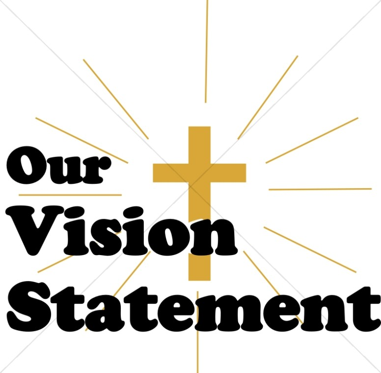 Vision clipart vision statement. Our with shining cross