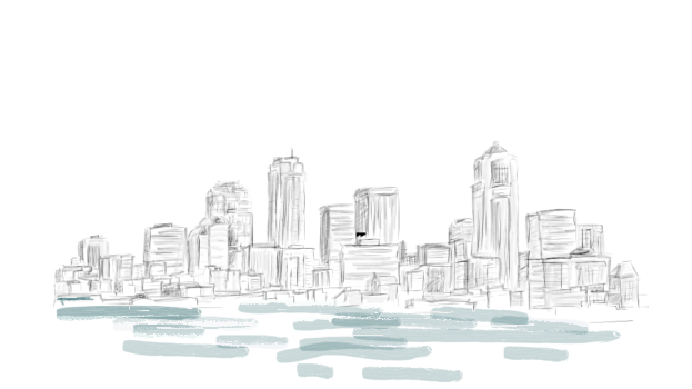Vision drawing skyline. M biot software it