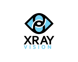 Vision vector logo design. X ray of an