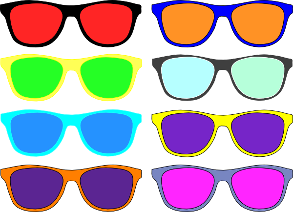 Vision vector colorful. Sunglasses clip art at