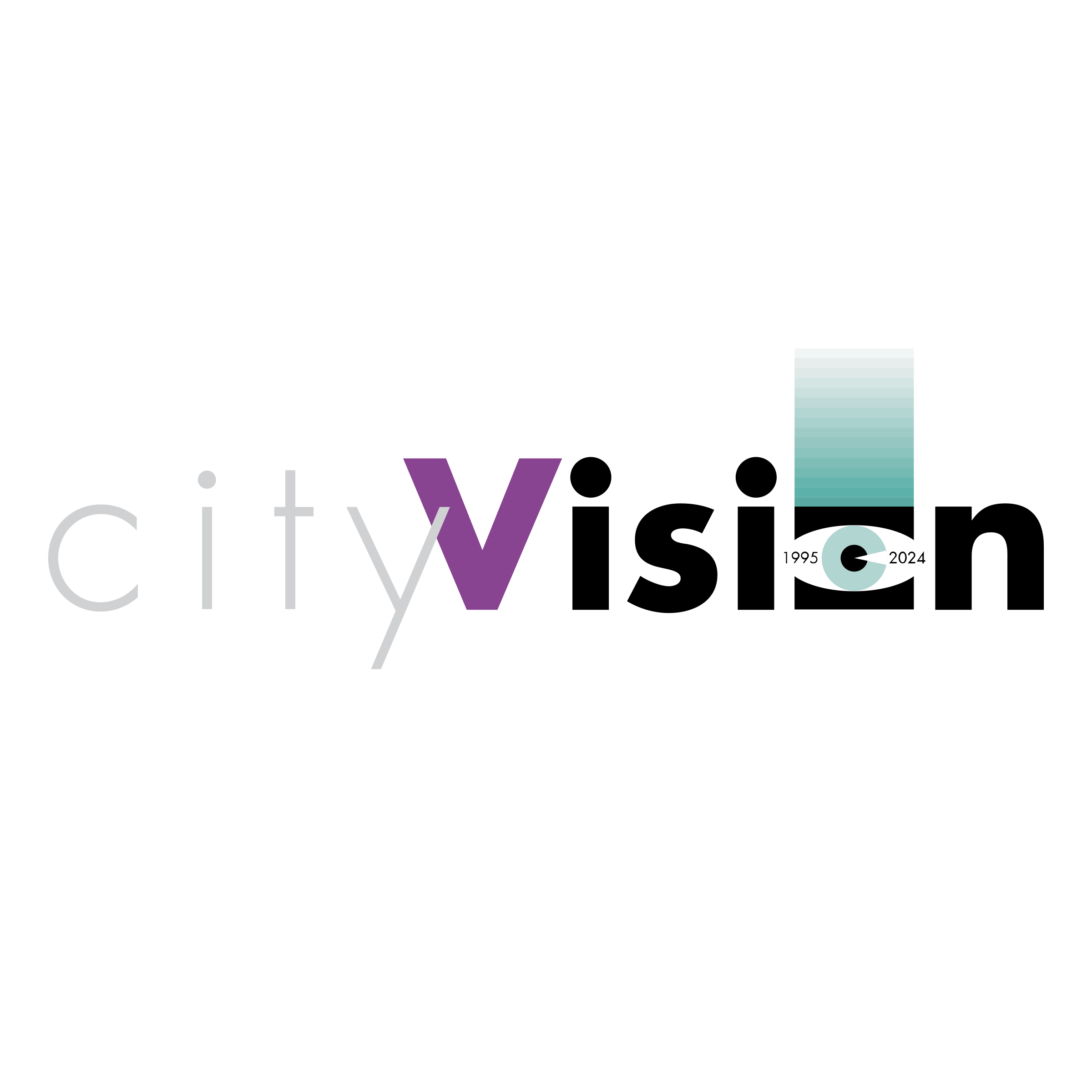 Vision vector logo design. City png transparent svg
