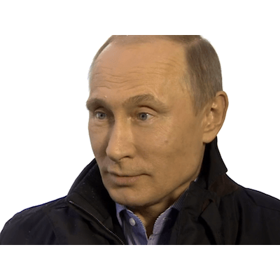 Putin head png. Sideview transparent stickpng
