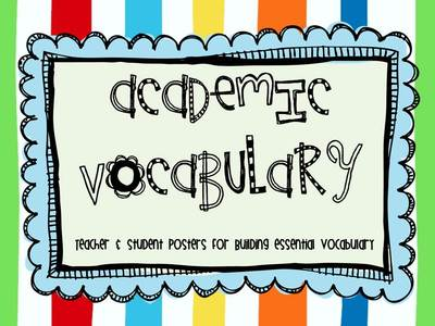 Vocabulary clipart academic vocabulary. Posters