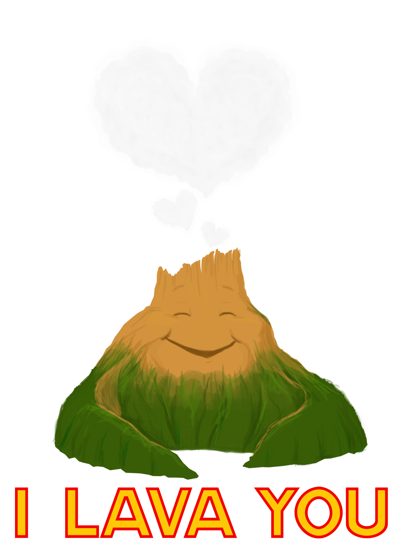 Volcano cartoon png. Only pixar can make