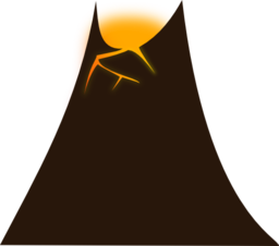 Volcano clipart. Simple i royalty free
