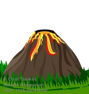 Volcano clipart. Image of magma flowing