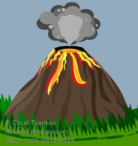 Volcano clipart active volcano. Image of an spurting