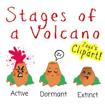 Volcano clipart active volcano. Stages of a by