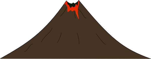 Volcano clipart active volcano. Transparent png pictures free