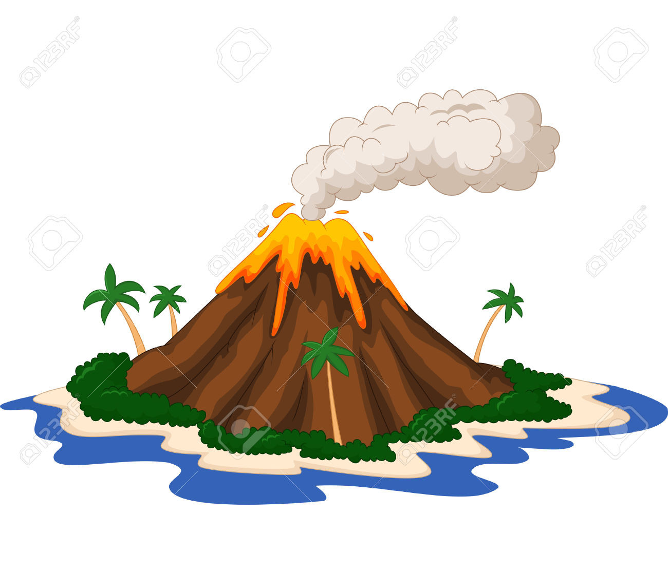 Volcano clipart volcano hawaii. Collection of images