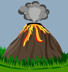 Volcano clipart volcano hawaii. Image eruption with ash