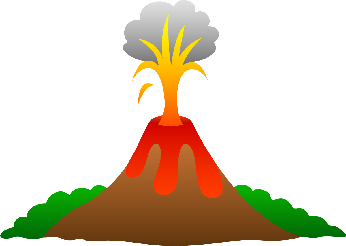 Volcano clipart volcano hawaii. Baking soda vinegar and