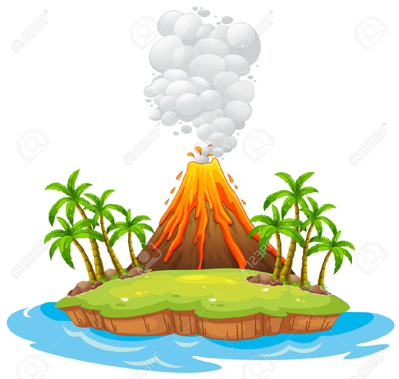 Volcano clipart volcano hawaii. Collection of high